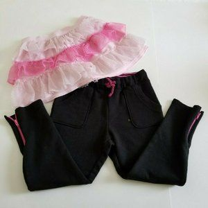 Cat & Jack Pink Tutu & Black Pants 3T